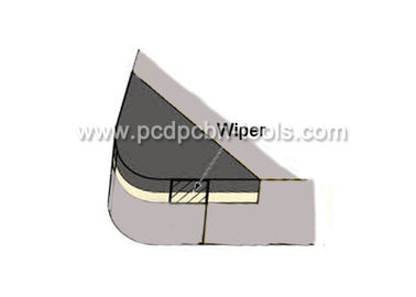 China Wiper PCBN Turning Inserts / Heat Resistant Alloys Carbide Turning Tools supplier