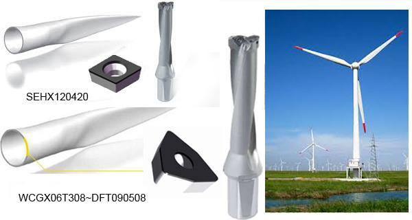 External Polycrystalline Diamond Pcd Tools With CFRP Wind Turbine Blade