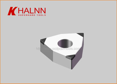 China Halnn Solid PCBN Inserts Interrupt Machining Hardened Steel Wind Power Bearings factory